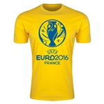 Euro 2016 Men's Fashion T-Shirt (Yellow)