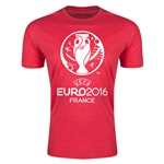 Euro 2016 Men's Fashion T-Shirt (Heather Red)