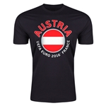 Austria Euro 2016 Men's Fashion T-Shirt (Black)