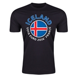Iceland Euro 2016 Men's Fashion T-Shirt (Black)