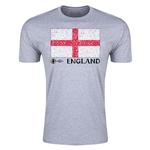 England Euro 2016 Men's Fashion T-Shirt (Grey)