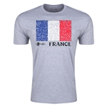 France Euro 2016 Men's Fashion T-Shirt (Grey)