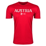 Austria Euro 2016 Men's Fashion T-Shirt (Red)