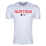 Austria Euro 2016 Men's Fashion T-Shirt (White)