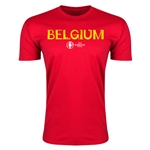 Belgium Euro 2016 Men's Fashion T-Shirt (Red)