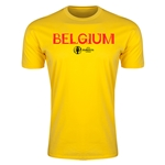 Belgium Euro 2016 Men's Fashion T-Shirt (Yellow)