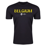 Belgium Euro 2016 Men's Fashion T-Shirt (Black)