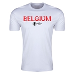 Belgium Euro 2016 Men's Fashion T-Shirt (White)