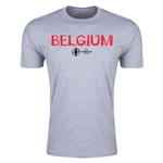 Belgium Euro 2016 Men's Fashion T-Shirt (Gray)