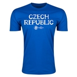 Czech Republic Euro 2016 Men's Fashion T-Shirt (Royal)