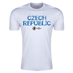 Czech Republic Euro 2016 Men's Fashion T-Shirt (White)