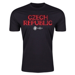 Czech Republic Euro 2016 Men's Fashion T-Shirt (Black)
