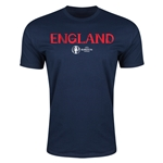 England Euro 2016 Men's Fashion T-Shirt (Navy)