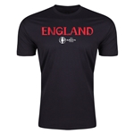 England Euro 2016 Men's Fashion T-Shirt (Black)