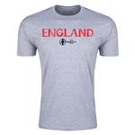 England Euro 2016 Men's Fashion T-Shirt (Gray)