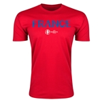 France Euro 2016 Men's Fashion T-Shirt (Red)