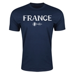 France Euro 2016 Men's Fashion T-Shirt (Navy)