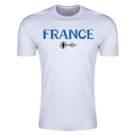 France Euro 2016 Men's Fashion T-Shirt (White)