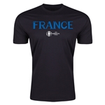 France Euro 2016 Men's Fashion T-Shirt (Black)