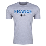 France Euro 2016 Men's Fashion T-Shirt (Gray)