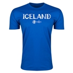 Iceland Euro 2016 Men's Fashion T-Shirt (Royal)