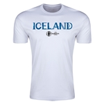 Iceland Euro 2016 Men's Fashion T-Shirt (White)