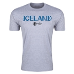 Iceland Euro 2016 Men's Fashion T-Shirt (Grey)
