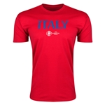 Italy Euro 2016 Men's Fashion T-Shirt (Red)