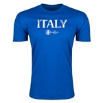 Italy Euro 2016 Men's Fashion T-Shirt (Royal)