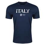 Italy Euro 2016 Men's Fashion T-Shirt (Navy)