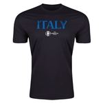 Italy Euro 2016 Men's Fashion T-Shirt (Black)