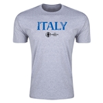 Italy Euro 2016 Men's Fashion T-Shirt (Grey)