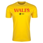Wales Euro 2016 Men's Fashion T-Shirt (Yellow)