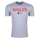 Wales Euro 2016 Men's Fashion T-Shirt (Grey)