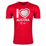 Austria Euro 2016 Men's Heart T-Shirt (Red)
