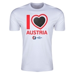 Austria Euro 2016 Men's Heart T-Shirt (White)