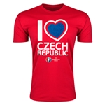 Czech Republic Euro 2016 Men's Heart T-Shirt (Red)