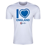 England Euro 2016 Men's Heart T-Shirt (White)
