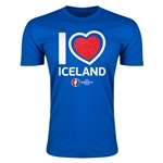 Iceland Euro 2016 Men's Heart T-Shirt (Royal)