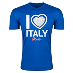 Italy Euro 2016 Men's Heart T-Shirt (Royal)