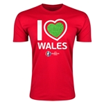 Wales Euro 2016 Men's Heart T-Shirt (Red)