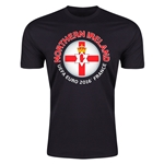 Northern Ireland Euro 2016 Men's Fashion T-Shirt (Black)
