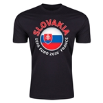 Slovakia Euro 2016 Men's Fashion T-Shirt (Black)