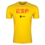 Spain Euro 2016 Men's Elements T-Shirt (Yellow)