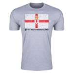 Northern Ireland Euro 2016 Men's Fashion T-Shirt (Grey)