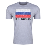 Russia Euro 2016 Men's Fashion T-Shirt (Grey)
