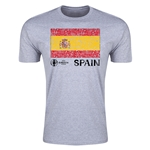 Spain Euro 2016 Men's Fashion T-Shirt (Grey)