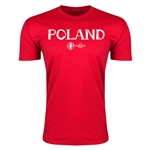 Poland Euro 2016 Men's Fashion T-Shirt (Red)