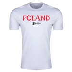 Poland Euro 2016 Men's Fashion T-Shirt (White)