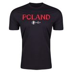 Poland Euro 2016 Men's Fashion T-Shirt (Black)
